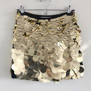 NWT Trina Turk Mini Kalina Sequin Skirt Gold 2